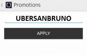 Uber promotion code