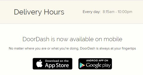 Doordash Delivery Hours