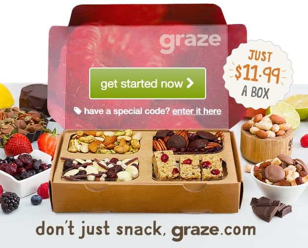 Graze Box - Healthier Snacks by Post