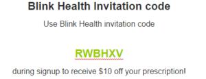 Blink Health Invitation code