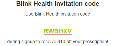 Blink Health Invitation code