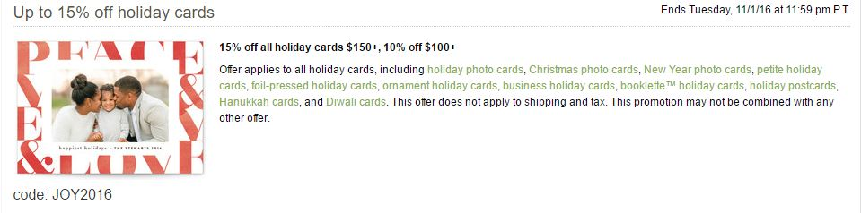 example of a minted promotion code