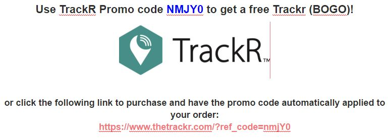 Use TrackR discount code NMJY0 to get a free Trackr (BOGO)! Click the following link: https://www.thetrackr.com/?ref_code=nmjY0