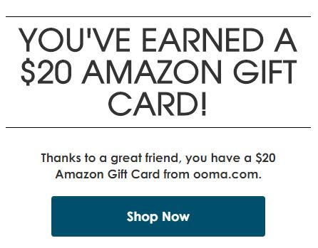 Ooma Promo Code For 20 Amazon Gift Card When You Sign Up For New
