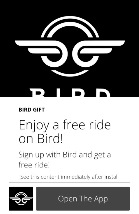 Bird Scooter free ride promo code - Link inside | Uber Promo